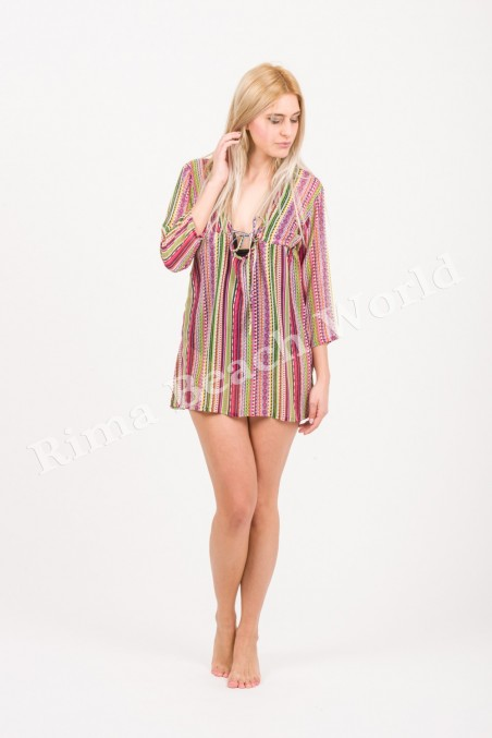 LONG 3/4 SLEEVE CHIFFON SUMMER BLOUSE