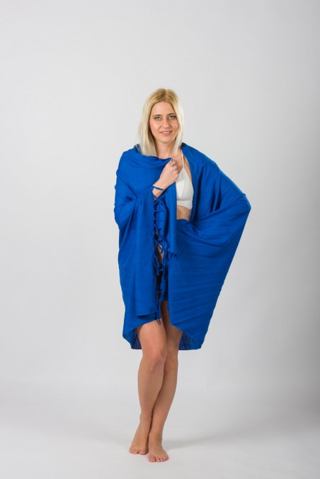 PAREO VISCOSE SINGLE COLOR WITH FRINGES