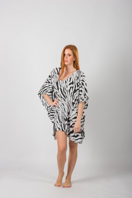 PONCHO ANIMAL PRINT VISCOSE