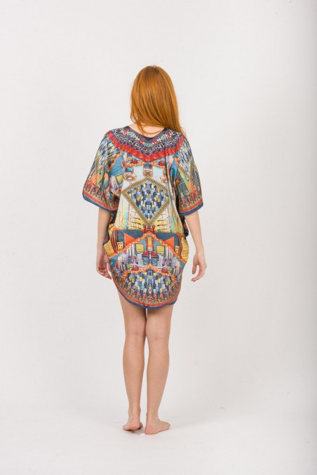 PONCHO DIGITAL PRINT OVAL