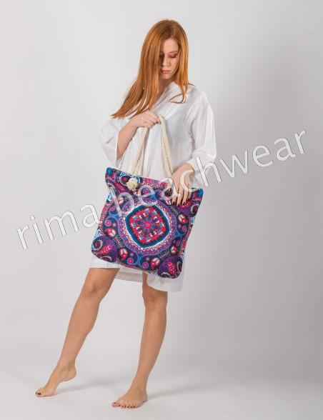 CANVAS BEACH SUMMER BAG