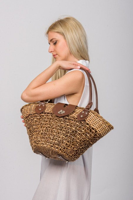 Handwoven Basket Rattan Bag