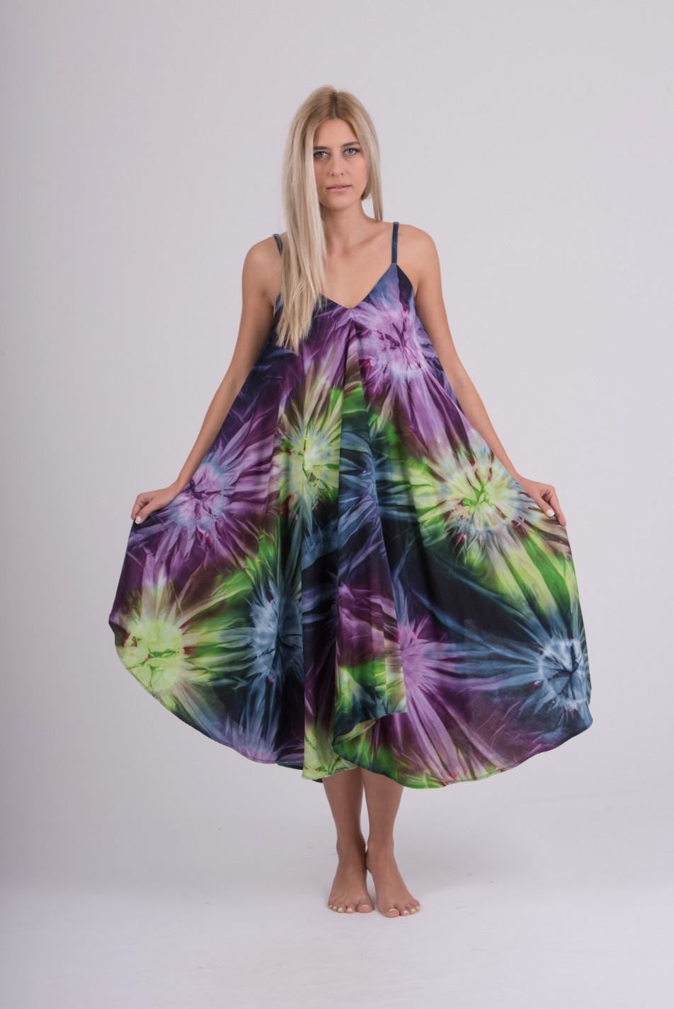 SUMMER DRESS TIE DYE OVAL